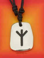 ALGIZ Furthark Rune Pendant & adjustable Necklace for Defence & Protection