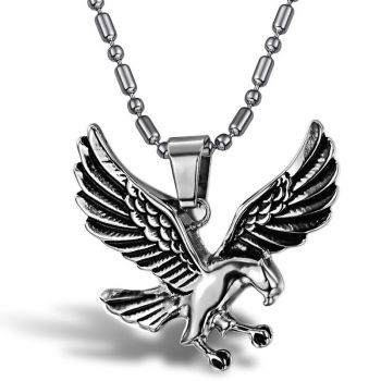 Eagle Pendant & Necklace, Stainless Steel