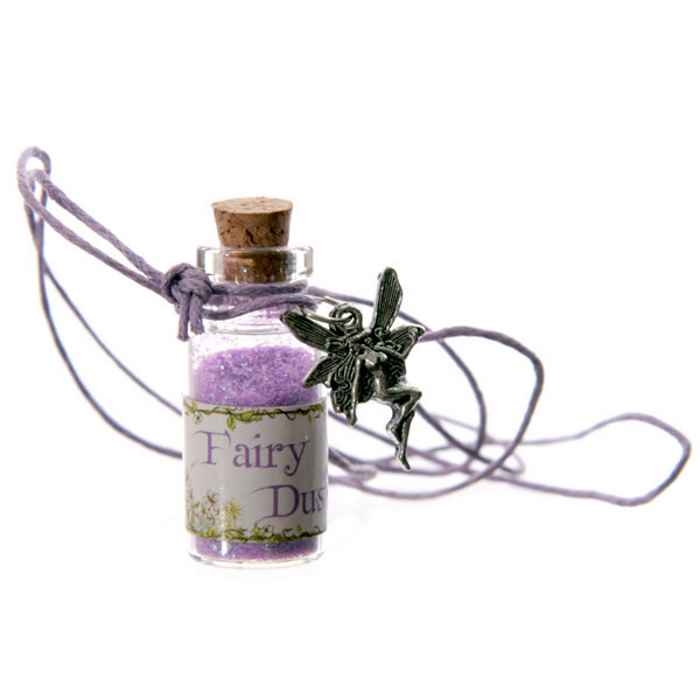 Fairy Dust Bottle Pendant Necklace (stock)