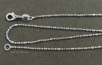 Silver Plated Dot Dash Chain Necklace 17