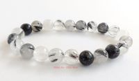tourmaline tourmalinated quartz bracelet crystal power beads