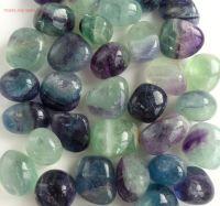 rainblow fluorite crystal tumbled stones tumblestones