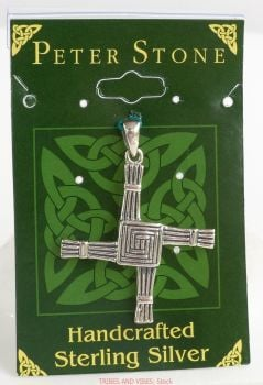Brigid Cross, Sterling Silver Pendant by Peter Stone