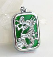 jade dragon rectangle pendant