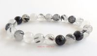 tourmaline tourmalinated quartz bracelet crystal beads