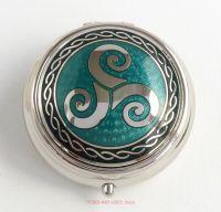 Triskele Pill Box by Sea Gems (green)