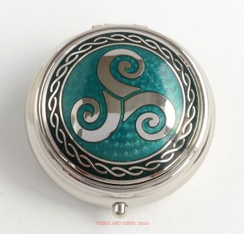 Triskele Pill Box by Sea Gems (green)