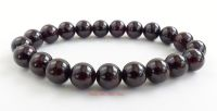 garnet crystal gemstone beads bracelet