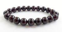 garnet crystal gemstone beads bracelet