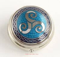 triskele triskelion pill box blue by Sea Gems