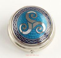 triskele triskelion pill box blue by Sea Gems