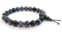 snowflake obsidian power beads bracelet