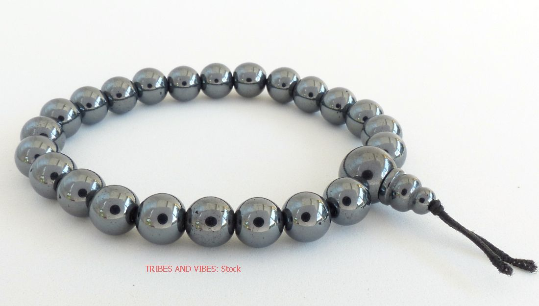 Hematite Bracelet (Magnetic) Power Beads - stock