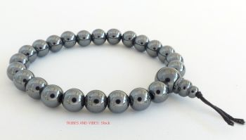 Hematite Bracelet (Magnetic) Crystal Power Beads Mala