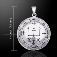 Sigil of Archangel Raphael Pendant, Sterling Silver by Peter Stone