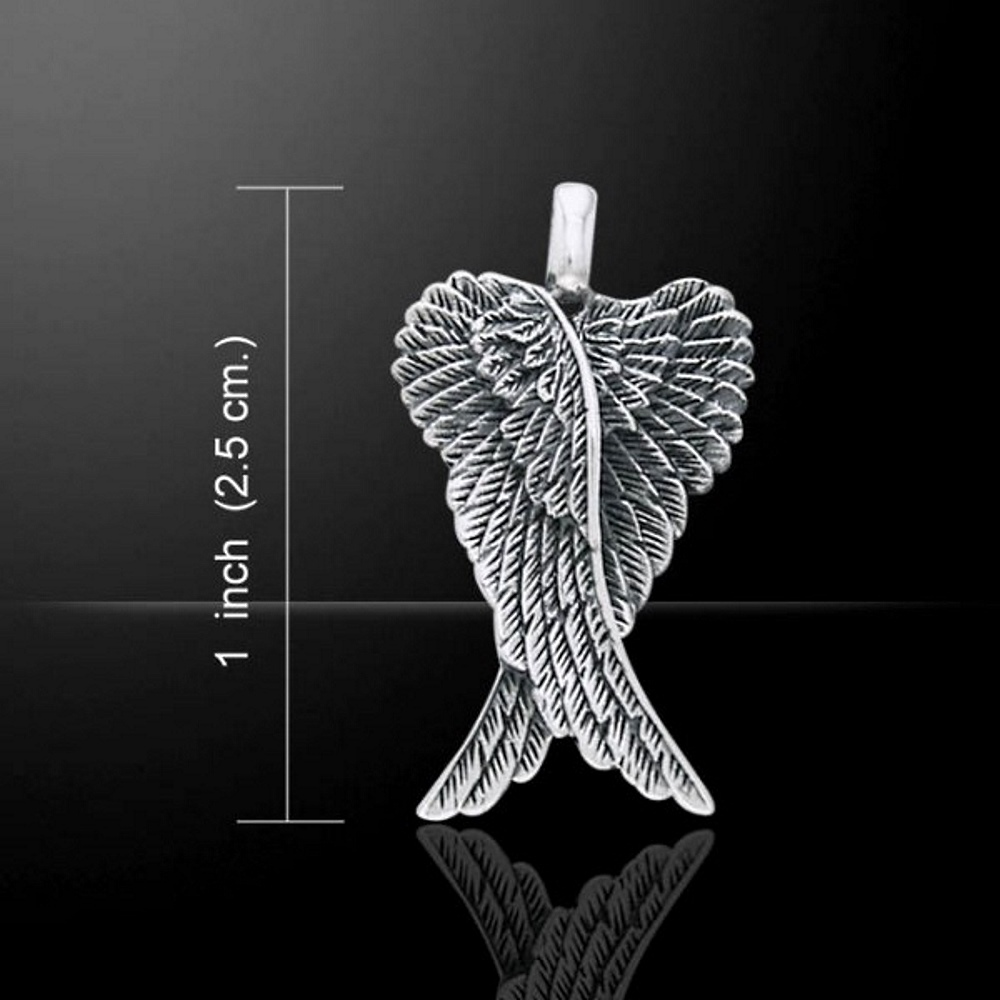 Angel Wings, Sterling Silver Pendant by Peter Stone (stock)