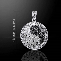celtic knotwork yin yang sterling silver pendant peter stone jewellery