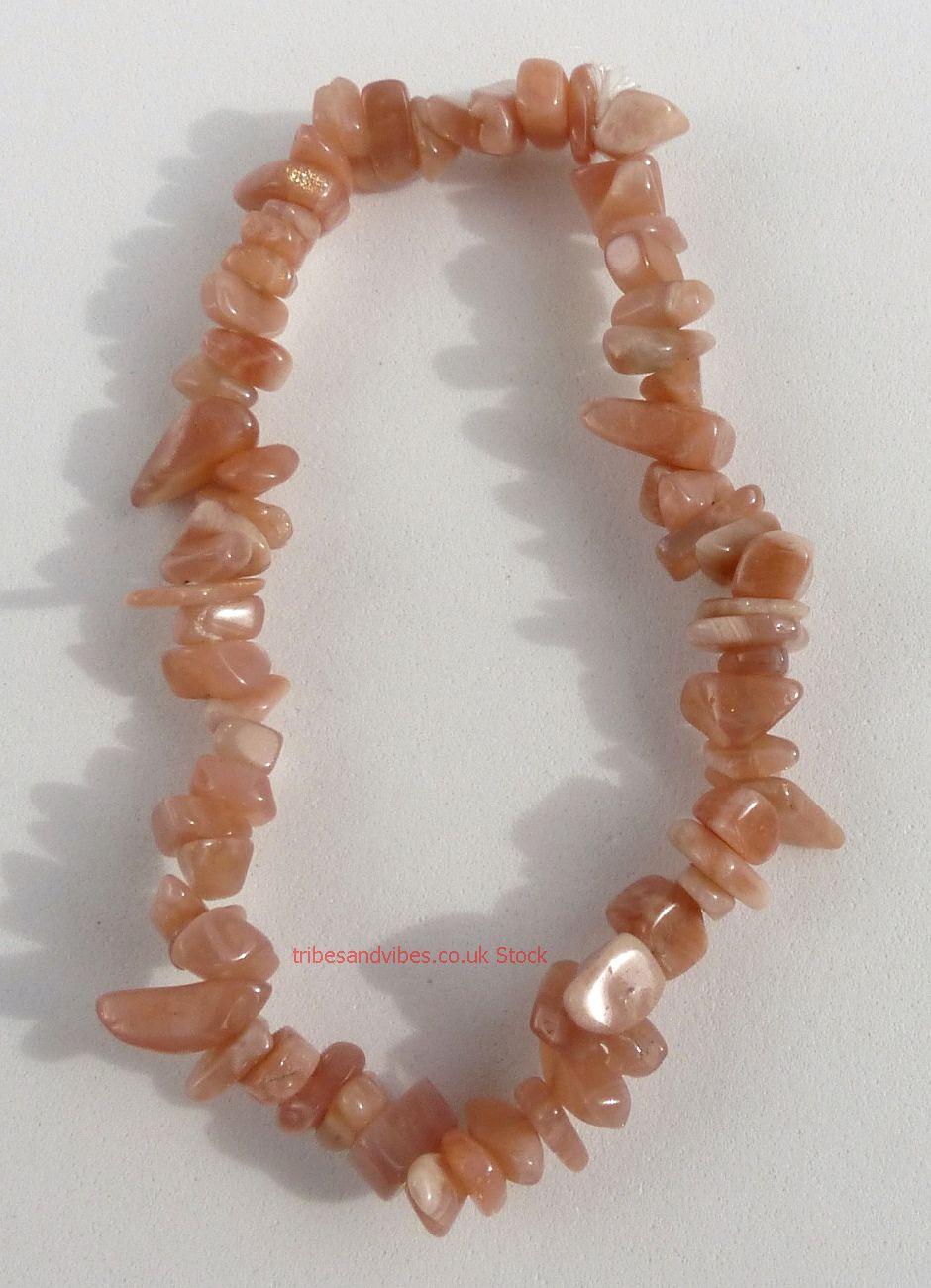 Sunstone Bracelet Crystal Chips (stock)