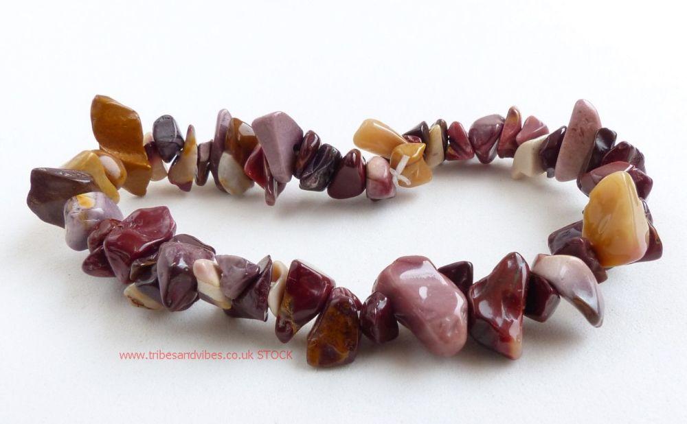 Mookaite (Australian Jasper) Bracelet Crystal Chips (stock)