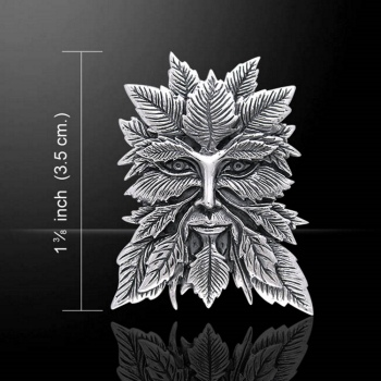 Green Man Pendant, Sterling Silver by Jessica Galbreth & Peter Stone