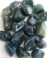 Agate (Moss Agate) Crystal Tumbled Stones 20-25mm