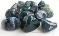 agate moss crystal tumbled stones tumblestones