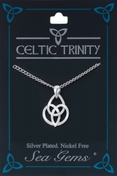 celtic trinity triquetra oval knot necklace