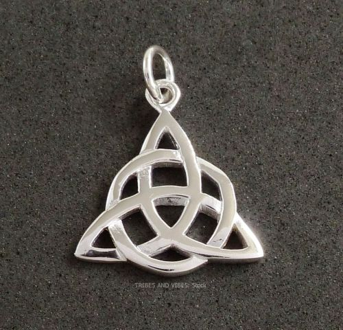 Double triquetra pendant triple moon goddess celtic knot sterling triquetra double celtic knot pendant sterling silver stock mozeypictures Image collections