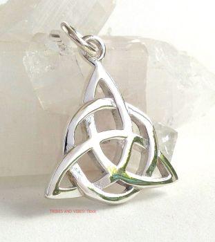 Triquetra (double) Celtic Knot Pendant Sterling Silver