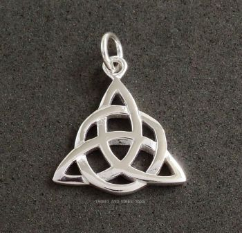 Triquetra Pendant Celtic Triple Moon Goddess Sterling Silver