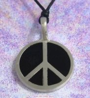 peace sign Symbol pendant necklace