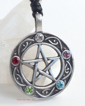 Pentagram Pentacle of Life beaded Pendant Necklace