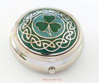 shamrock pill box green aqua by Sea Gems
