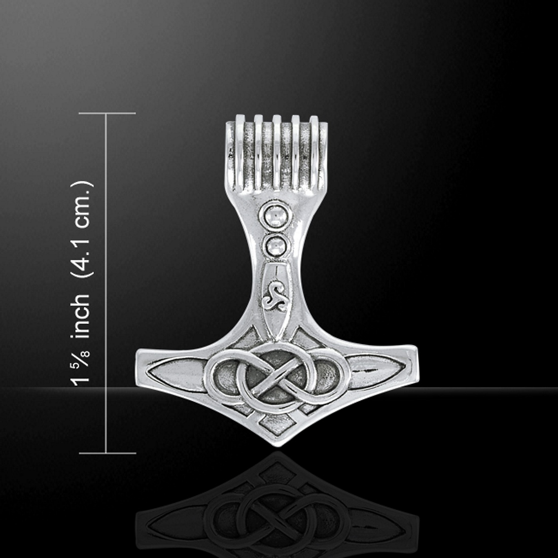 Celtic Thors Hammer Mjolnir Pendant by Peter Stone, Sterling Silver