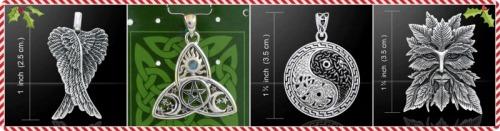 Peter Stone pendants Christmas Yule Gifts