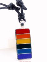 long bar rectangle pendant necklace pride LGBT