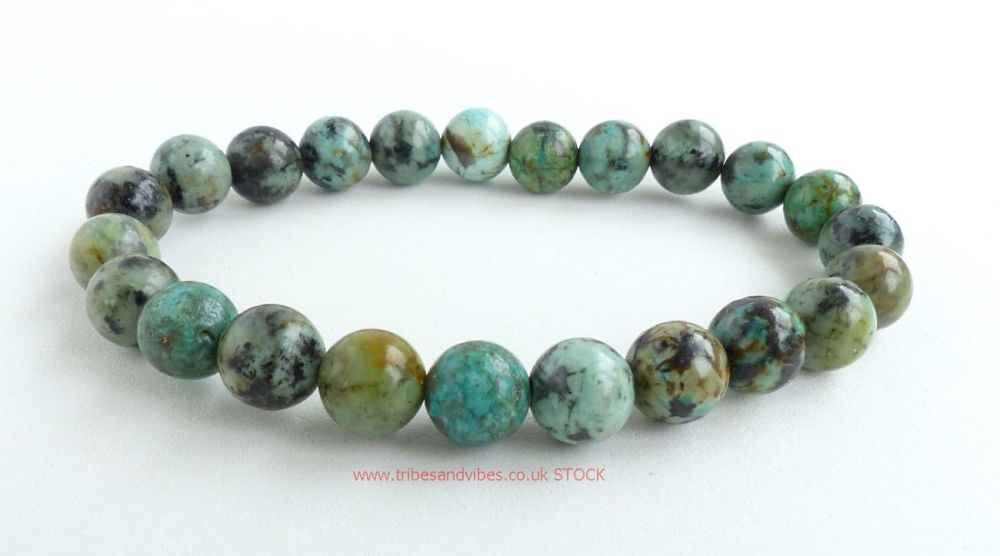 Turquoise Bracelet Crystal Beads (stock)