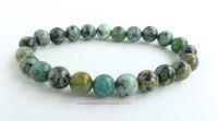 Turquoise Crystal Beads Bracelet Birthstone Leo