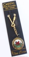 Welsh Dragon Keyring by Sea Gems (gold plated)