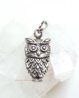 Owl Pendant by Sea Gems Sterling Silver