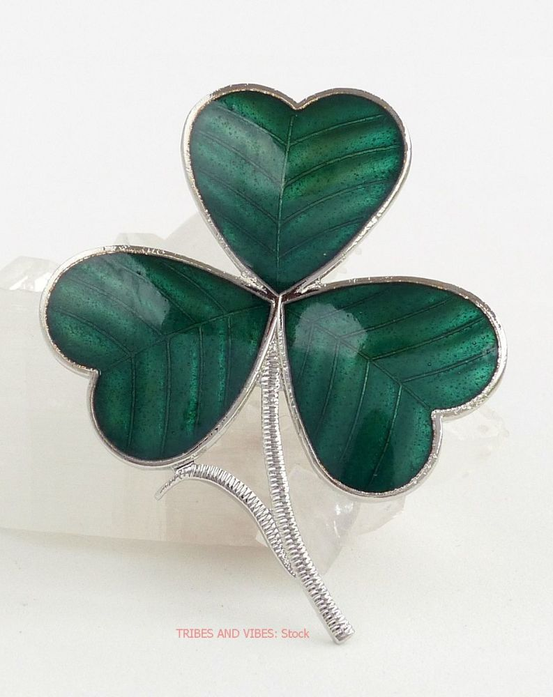 Irish Shamrock Brooch by Sea Gems (stock)
