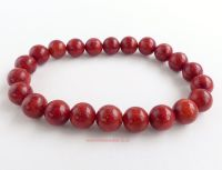 red coral beads bracelet