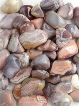 Agate (Botswana grey pink) Crystal Tumbled Stones 20-25mm