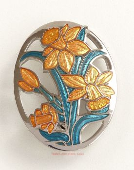 Daffodils Brooch by Sea Gems