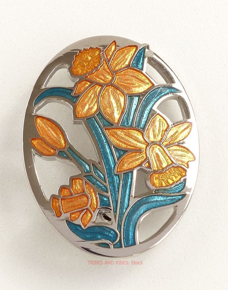 Daffodils Brooch by Sea Gems (stock)