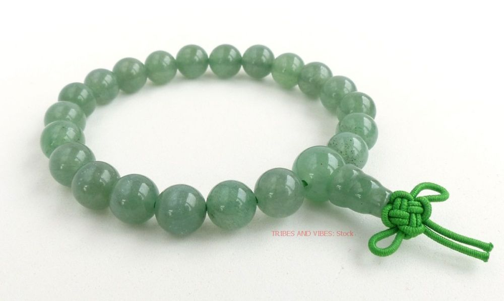 Aventurine (Green) Bracelet Crystal Power Beads Mala (stock)