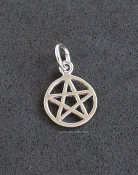 Pentagram Pentacle Charm Sterling Silver
