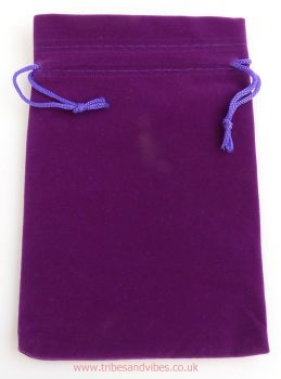 Velvet Purple Drawstring Pouch Gift Bag 17cm x 12cm - ideal for Tarot Cards