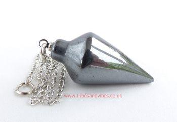 Hematite Crystal Dowsing Pendulum & Chain