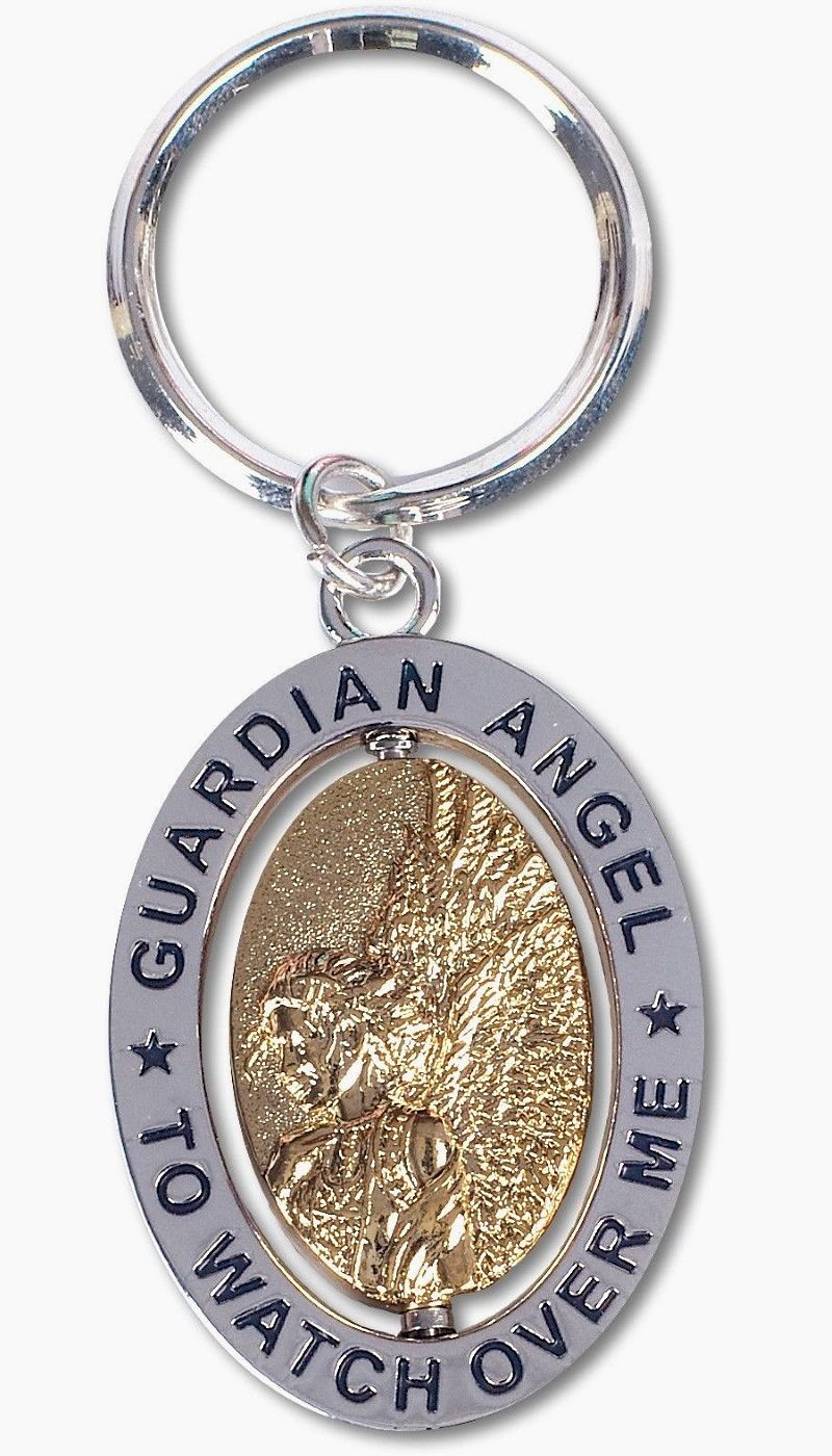 Guardian Angel To Watch Over Me - Spinner Keyring by AngelStar (stock)